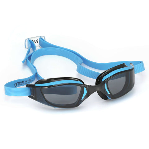 Michael Phelps XCEED Smoke Lens Goggles, Blue/Black,Aqua Sphere,Treshers