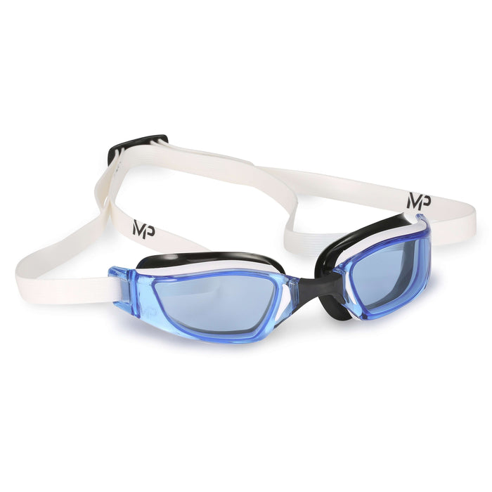 Michael Phelps XCEED Blue Lens Goggles. White/Black,Aqua Sphere,Treshers