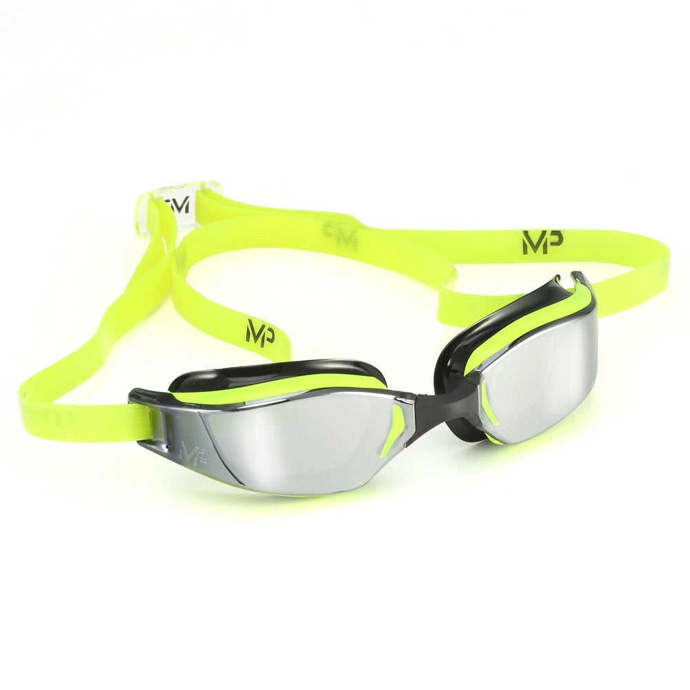 Michael Phelps XCEED Mirrored Lens Goggles. Yellow/Black,Aqua Sphere,Treshers