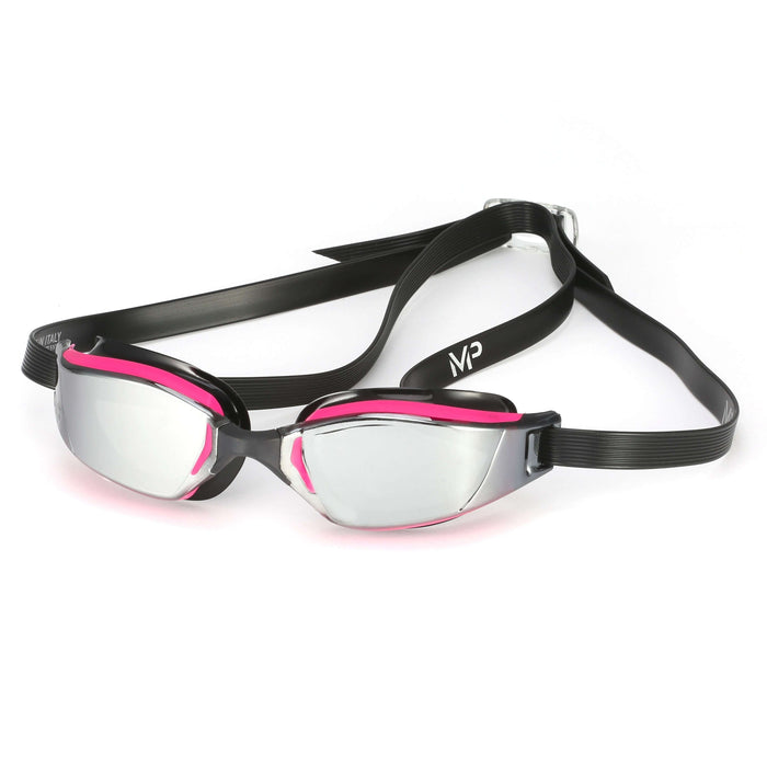 Michael Phelps XCEED Lady Mirrored Lens Goggles, Pink/Black,Aqua Sphere,Treshers