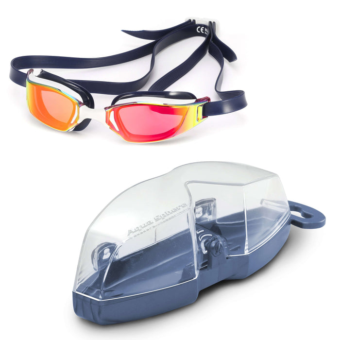Michael Phelps XCEED Titanium Mirror Lens Goggles, Red/White/Blue (USA),Aqua Sphere,Treshers