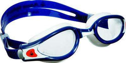 Treshers:Aqua Sphere Kaiman EXO Small Fit Goggles, Clear Lens,Blue Muted/White