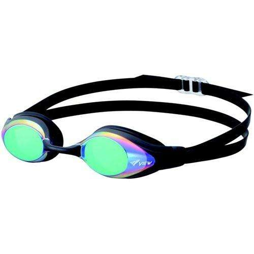 TUSA View Shinari Mirrored Lens Swimming Goggles,  Smoke / Blue,Tusa,Treshers
