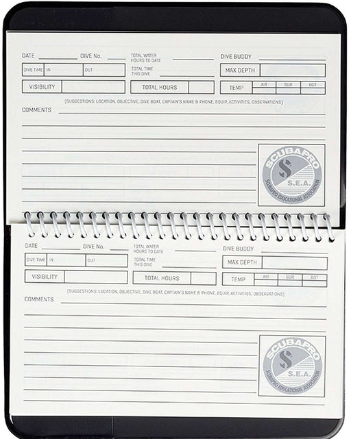 ScubaPro Water Proof Pages Divers Log Book,Scubapro,Treshers