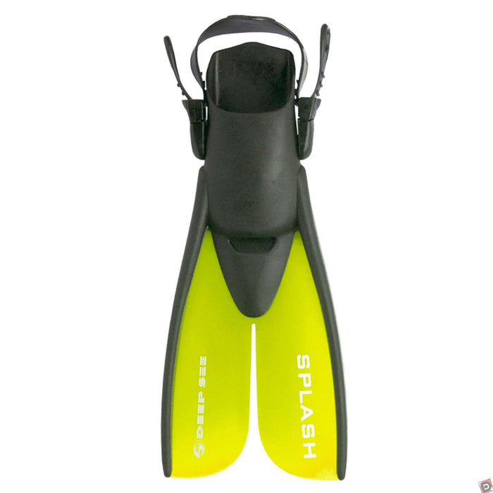Treshers:Deep See Kids Splash Split Fins,1-4 / Yellow