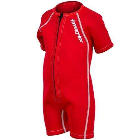 Treshers:Hyperflex Acess Child's 2mm Front Zip Springsuit,1 / Red
