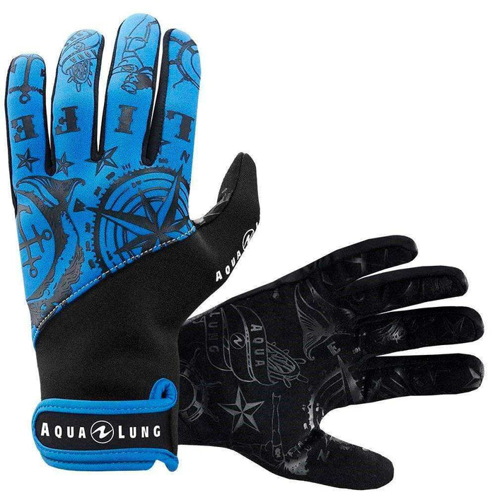 Treshers:Aqua Lung Admiral III Gloves, 2mm, Men,XS / Black/Blue