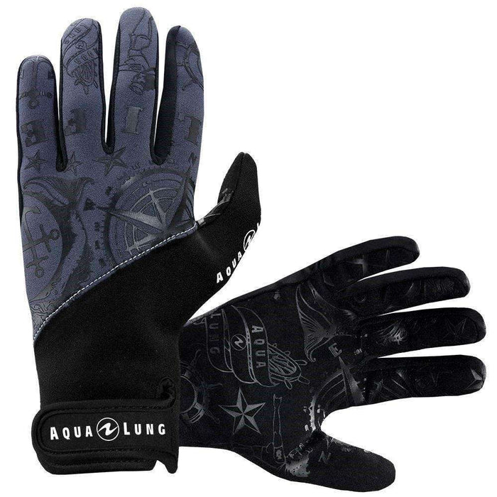 Treshers:Aqua Lung Admiral III Gloves, 2mm, Men,XS / Black/Charcoal