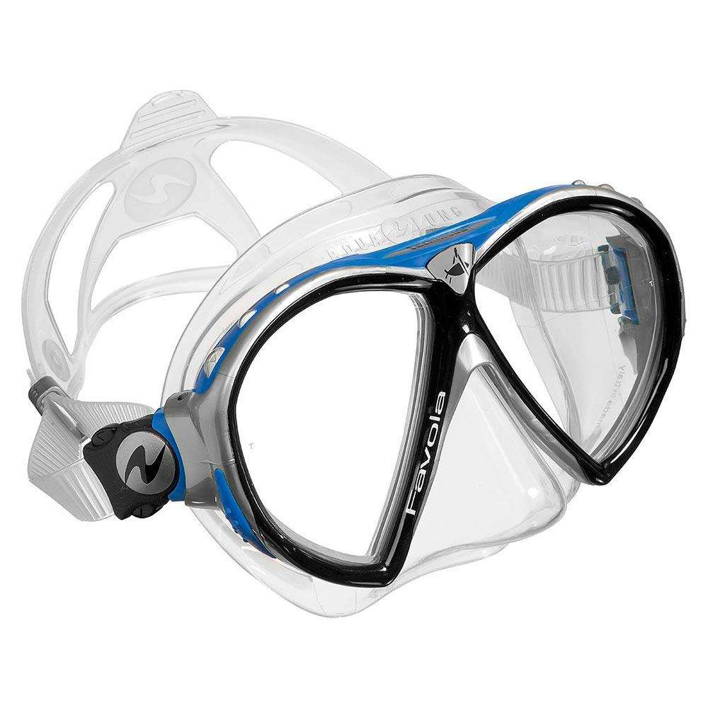 Treshers:Aqua Lung Favola mask,Clear Silicone Black/Blue/Silver