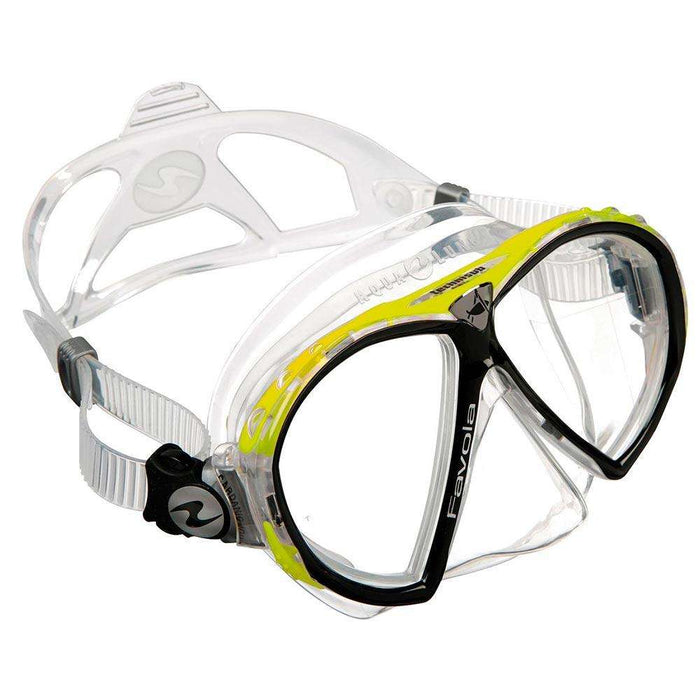Treshers:Aqua Lung Favola mask,Clear Silicone Yellow