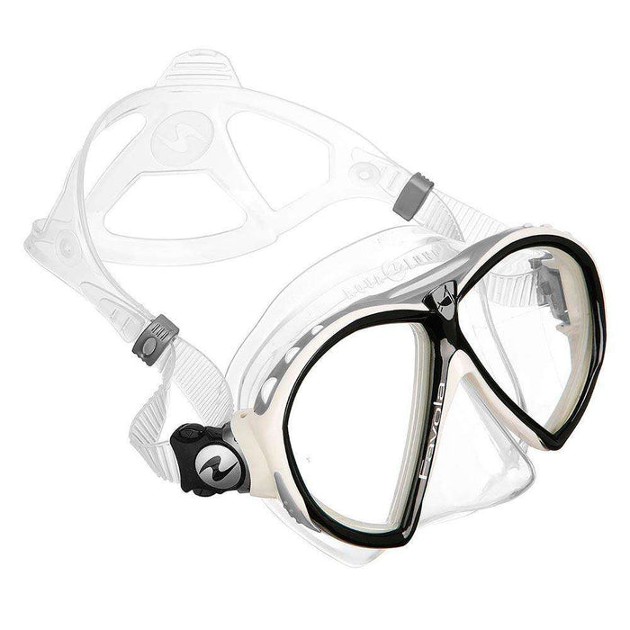 Treshers:Aqua Lung Favola mask,Clear Silicone White Arctic