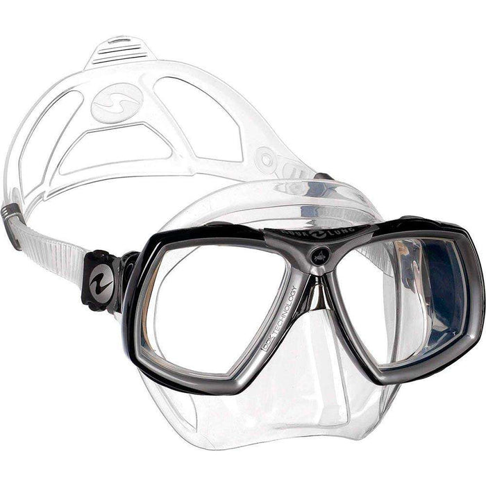 Treshers:Aqua Lung Look 2 Mask, Midi,Clear Silicone Black/Silver