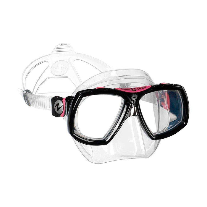 Treshers:Aqua Lung Look 2 Mask, Midi,Clear Silicone Black/Pink