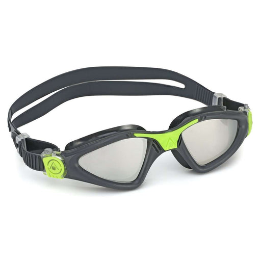 Aqua Sphere Kayenne Mirrored Lens Swim Goggles, 188930, Grey/Bright Green,Aqua Sphere,Treshers