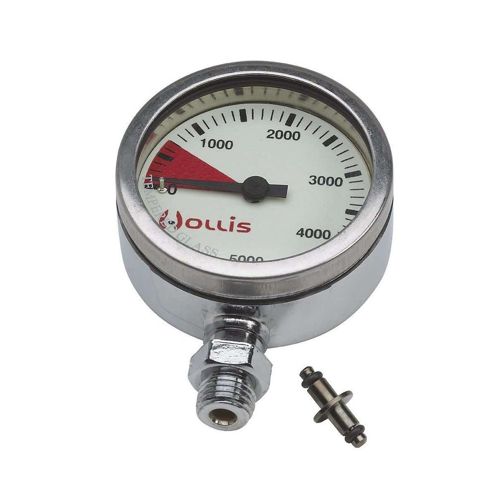 Hollis Pressure Gauge (SPG), Metal, No Hose/Boot, PSI,Hollis,Treshers