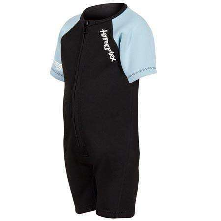 Treshers:Hyperflex Acess Child's 2mm Front Zip Springsuit, Black/Powder Blue,1