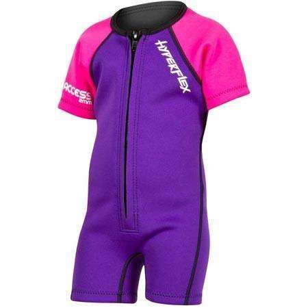 Treshers:Hyperflex Acess Child's 2mm Front Zip Springsuit, Pink/Purple,1