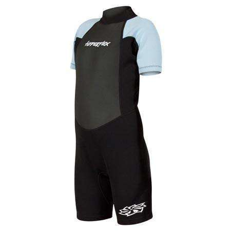 Treshers:Hyperflex Acess Child's Backzip Springsuit, Black/Light Blue,4
