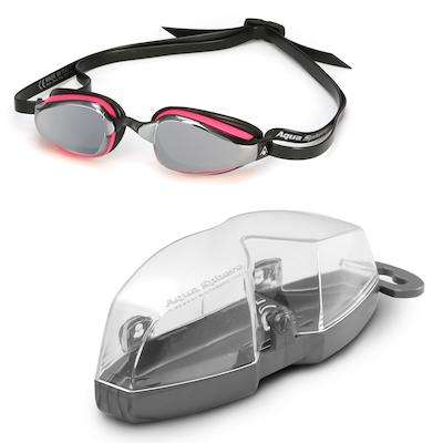 Michael Phelps K180 Pink Black Lady Goggles, Mirrored Lens,Aqua Sphere,Treshers