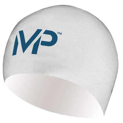 Treshers:Michael Phelps Swim Race Cap,White/Navy