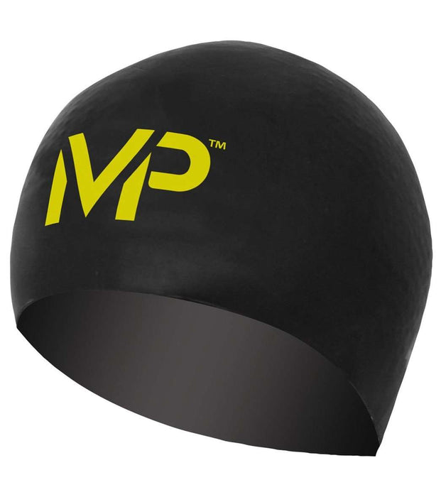 Treshers:Michael Phelps Swim Race Cap,Black/Yellow