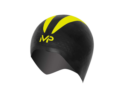 Treshers:Michael Phelps X-0 Swim Cap,S / Black/Yellow