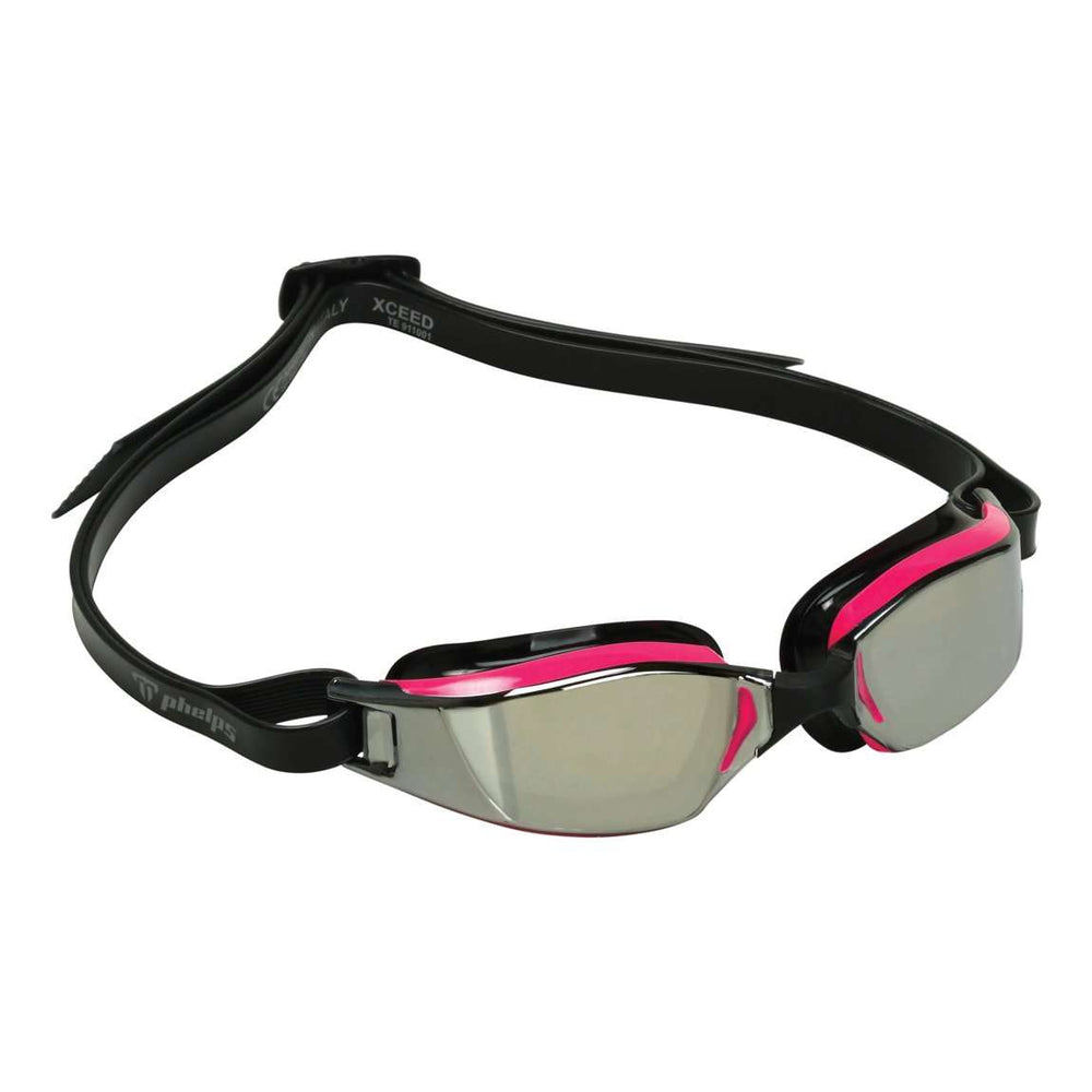 Michael Phelps XCEED Lady Mirror Lens Goggles, Pink/Black, EP1310201LMS,Aqua Sphere,Treshers