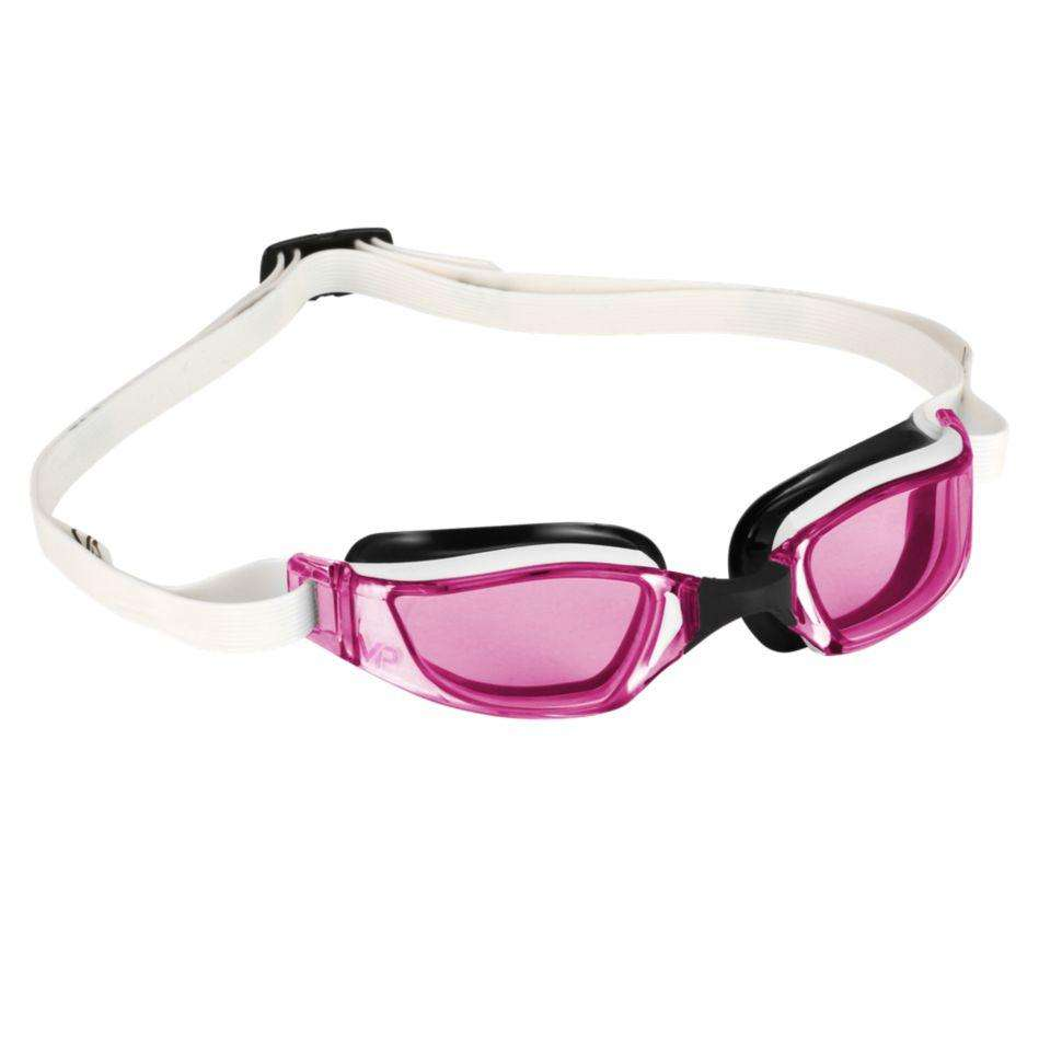 Michael Phelps XCEED Lady Pink Lens Goggles, White/Black,Aqua Sphere,Treshers