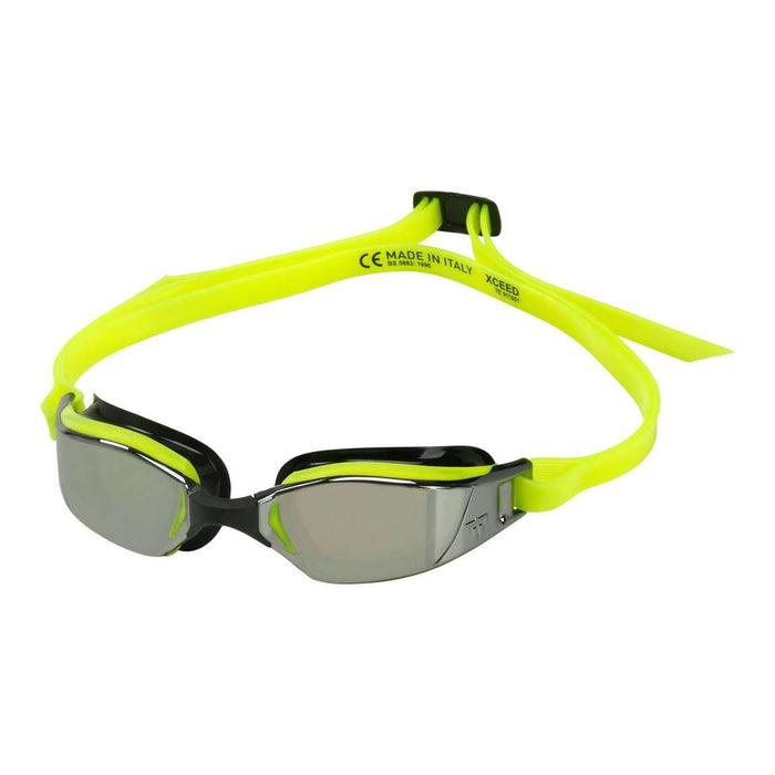 Michael Phelps XCEED Mirrored Lens Goggles. Yellow/Black, EP1310701LMS,Aqua Sphere,Treshers