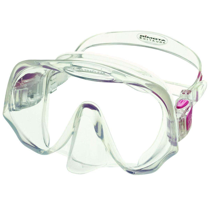 Treshers:Atomic Frameless Mask, Medium Fit,Clear/Pink