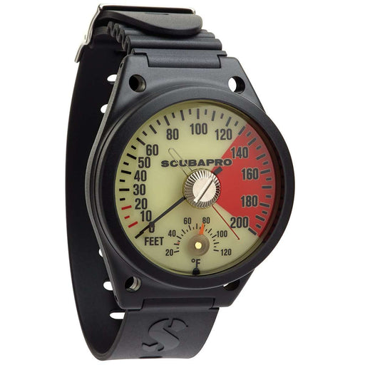 ScubaPro Analog Depth Gauge Wrist, with Armstrap, Imperial,Scubapro,Treshers