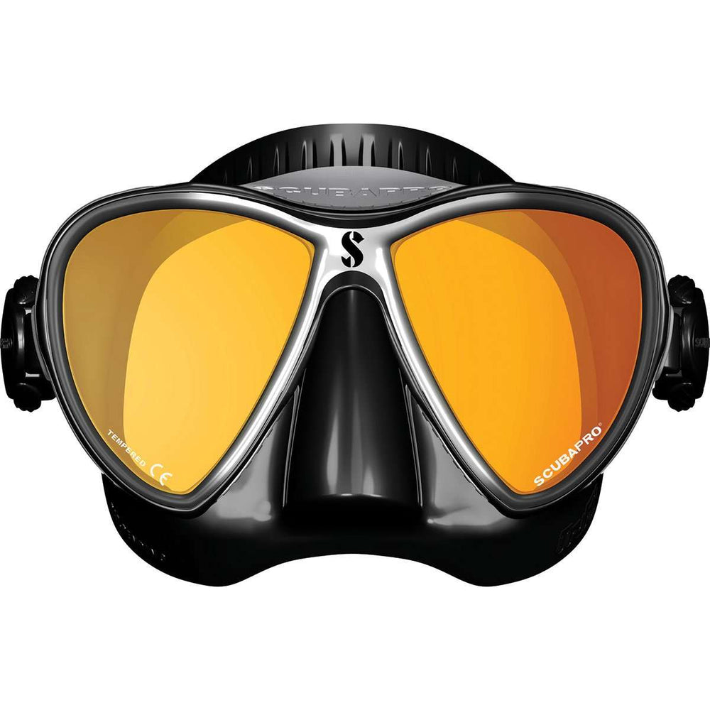 Scubapro Synergy 2 Twin Mirrored Lens Mask, Black/Silver,Scubapro,Treshers