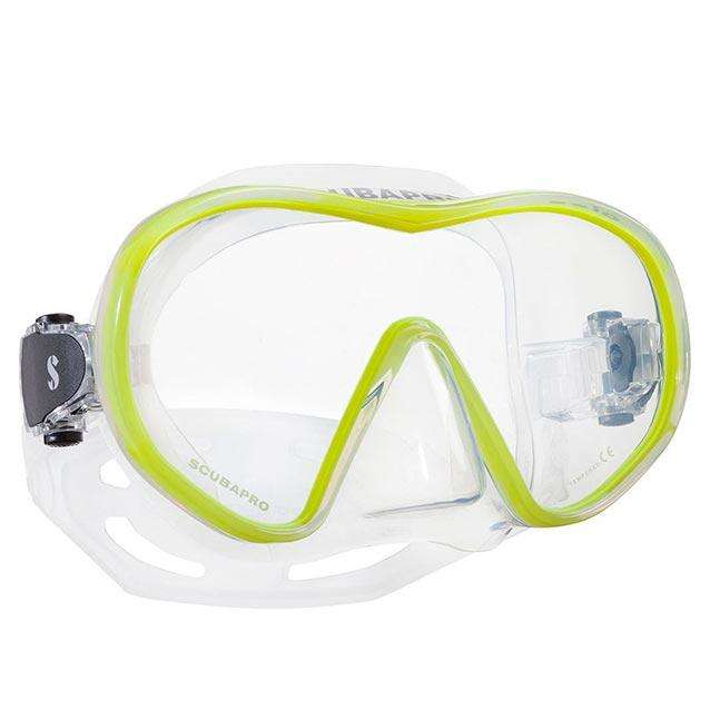 Treshers:Scubapro Solo Mask,Clear/Yellow