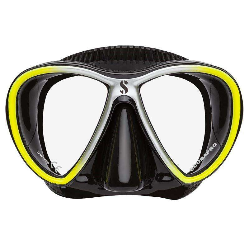 Treshers:Scubapro Synergy Twin Mask,Yellow/Silver/Black
