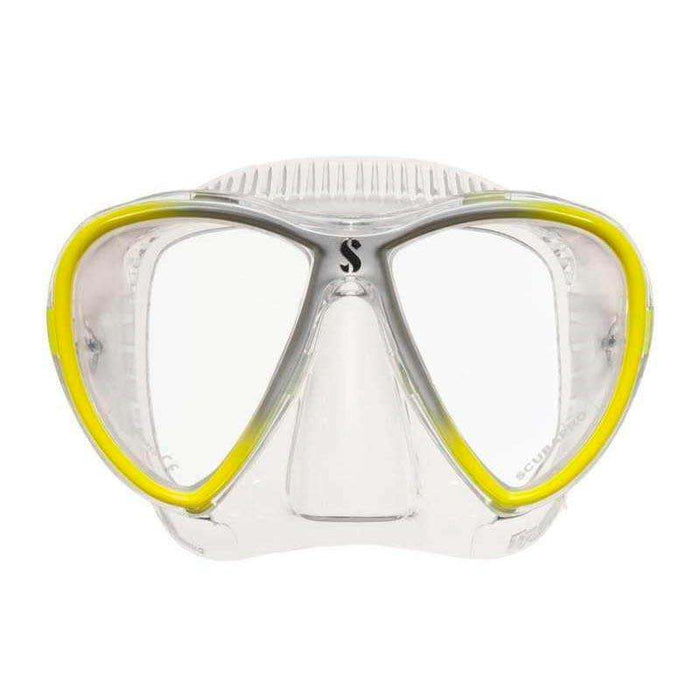 Treshers:Scubapro Synergy Twin Mask,Yellow/Silver/Clear