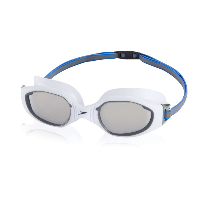 Treshers:Speedo Hydro Comfort Mirrored Goggle,White/Grey