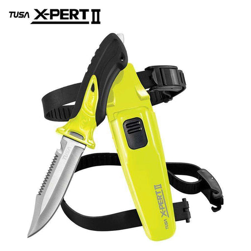 Treshers:Tusa X-PERT II , Pointed, Drop Point Blade Knife (FK-910),Flash Yellow