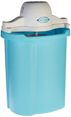 Nostalgia ICMP600BLUE 6-Quart Electric Ice Cream Maker