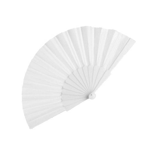 Handheld Pretty Fan - Summer Wedding Accessory & Favour (White)
