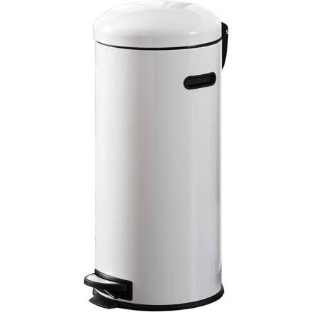 Better Homes and Gardens 30L Retro Trash Can, White