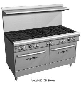 "Southbend 4602AA-4GL 60"" Ultimate Restaurant Gas Range w/ 2 Wavy Grate Burners, 48"" Left Griddle & (2) Convection Ovens"