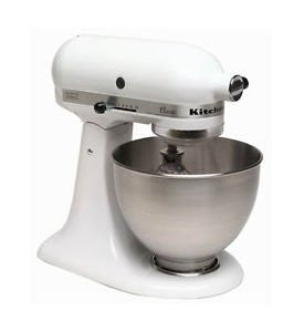 Kitchenaid K45sswh Made in Usa Classic Powerful 250 Watts Stand Mixer White One Day Shipping Good Gift Fast Shipping
