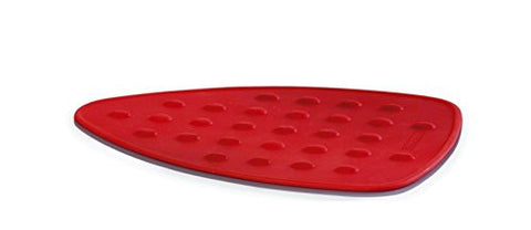 Riona Silicone Iron Resting Pad for Dry/Steam Irons (Red)