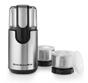New Kitchenaid Blade Coffee and Spice Grinder Kit with Stainless Steel Bowls One Day Shipping Good Gift Fast Shipping