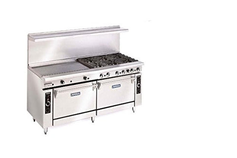 "Imperial Commercial Restaurant Range 72"" Griddle With 2 Convection Ovens Natural Gas Ir-G72-Cc"