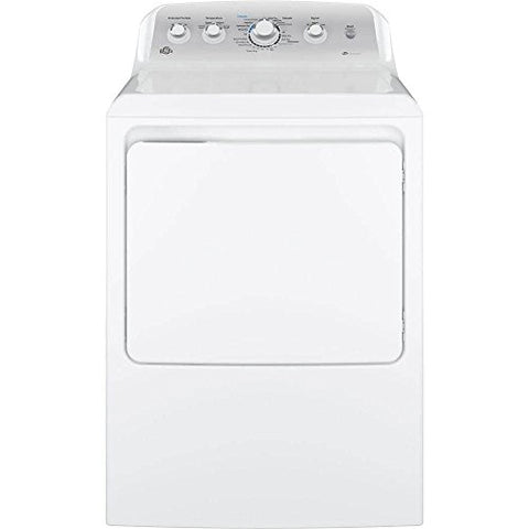 "GE GTD45GASJWS 27"" Gas Dryer with 7.2 cu. ft. Capacity, 4 Dry Cycles, 4 Temperature Settings, HE SensorDry in White"