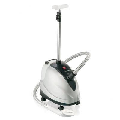 90 Minute Garment Fabric Garment Steamer with Casters Roll for Mobility - White