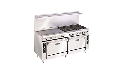 "Imperial Commercial Restaurant Range 72"" With 2 Burner 60"" Griddle 2 Ovens Propane Ir-2-G60-Cc"