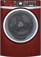 "GE GFW480SPKRR 28"" Front Load Washer with 4.9 cu. ft. Capacity, 13 Wash Cycles, in Ruby Red"