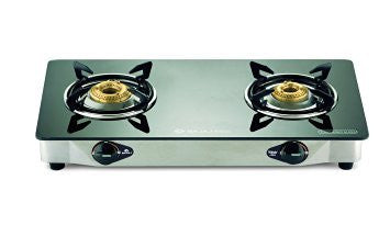 Bajaj Cgx2 Ss Eco, Gas Stove, Ss Glass Top 2 Burner